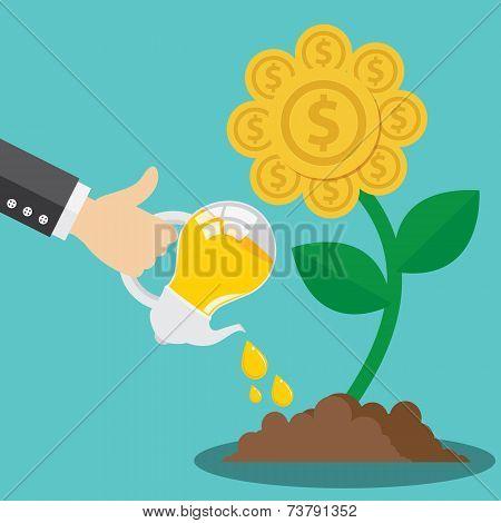 Financial Growth Form Idea Concept