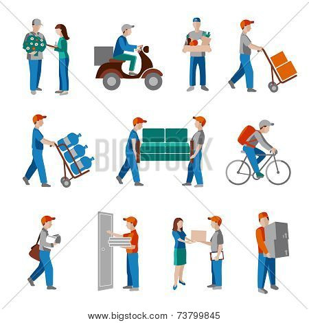 Delivery icons flat