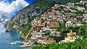 breathtaking scenery of Positano, Amalfi coast , Italy poster