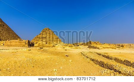 View Of The Pyramid Of Henutsen (g1-c) In Giza - Egypt