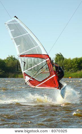 Windsurfer Jumping