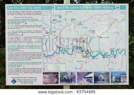 Tourist Information Sign Post