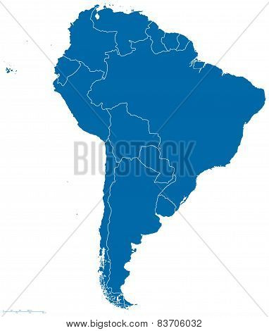 South America Map Silhouette
