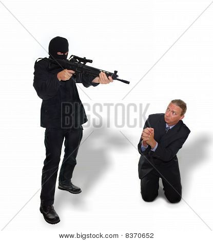 Terrorist threatens Businessman