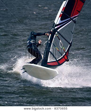 Windsurfer in Jump