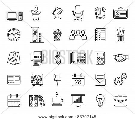 Set of business icons nternet marketing and services