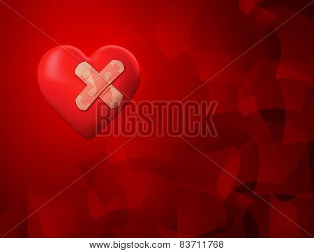 Injured Red Heart