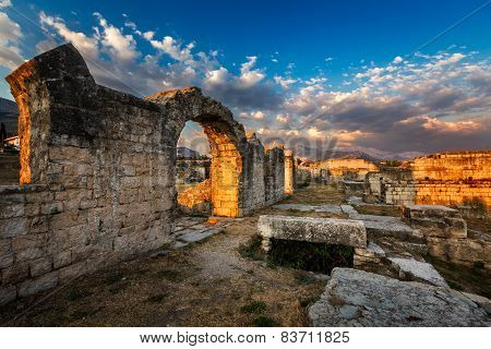 Ruins Of Ancient Roman Salona (solin) Near Split, Dalamatia, Croatia