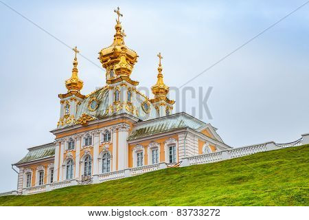 Church Of Saints Peter And Paul On The Hill In Peterhof