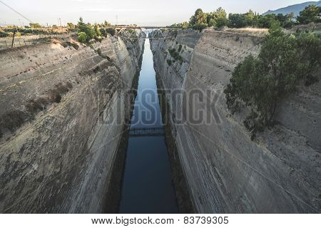 Canal For The Passage Of Vessels In Corinth