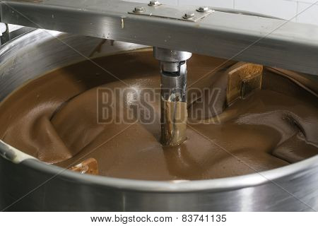 Machine For Mixing Chocolate