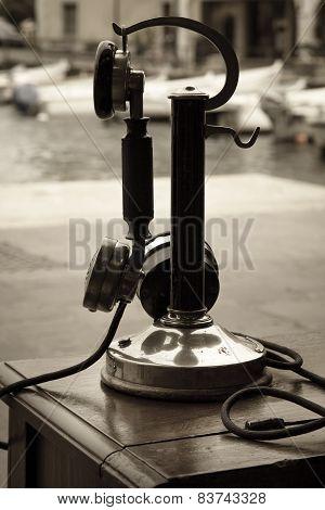 Old Telephone Sepia