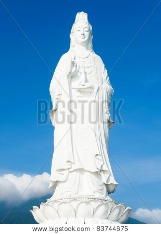 The Statue Of Buddha In Linh Ung Pagoda, Da Nang, Vietnam
