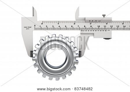 Metal Vernier Caliper With Gear Wheel