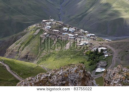 village Xinaliq at Azerbaijan