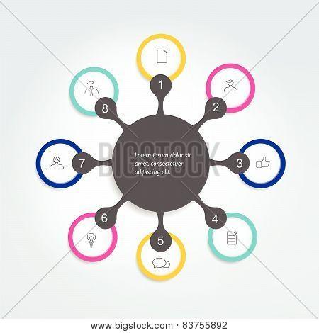 Flowchart diagram scheme . Info graphic element. poster