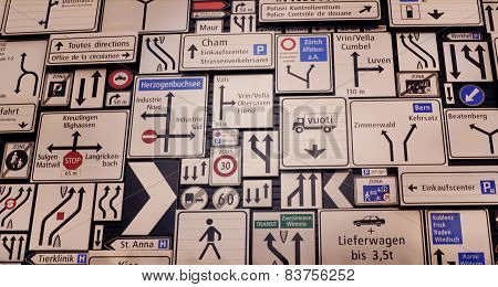 Bunch of road signs