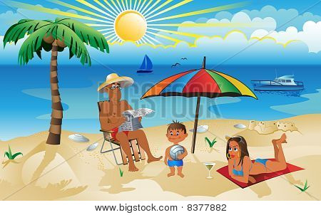 A Family On Vacation.eps
