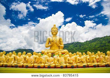 Buddha At Buddha Memorial Park , Nakorn Nayok, Thailand.