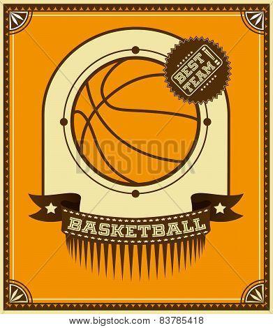 Basketball Retro Poster.