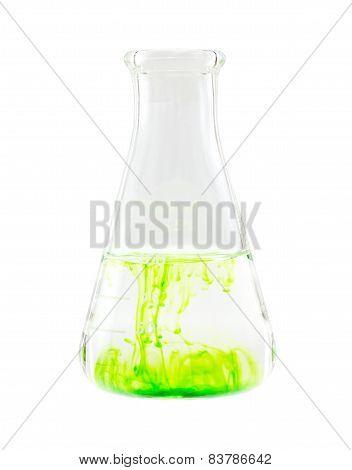solution in flask labolatory glassware