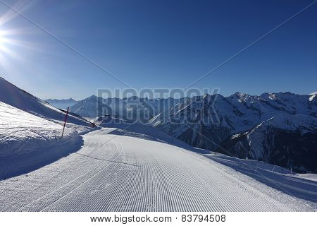 ski slope in the tyrolean alps
