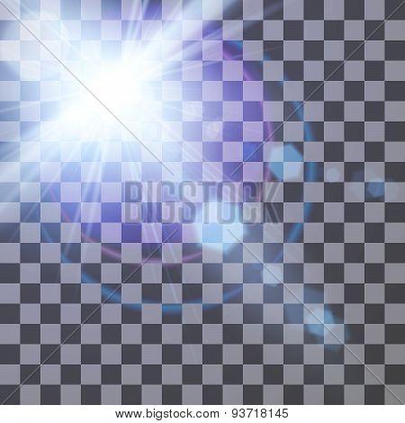 Transparent lens flare effect