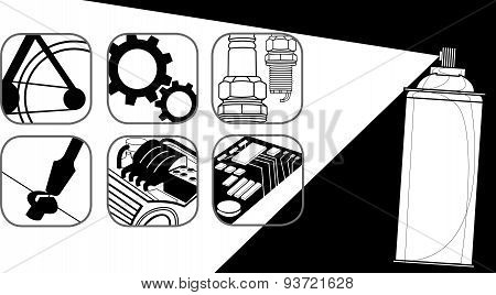 Multi purpose Oil And Symbol