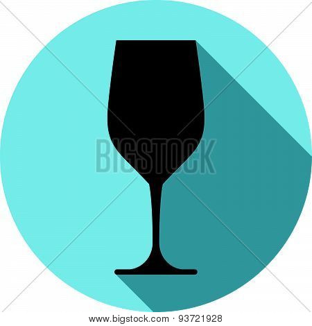 Sophisticated wine goblet, stylish alcohol theme illustration. Classic wineglass, romantic
