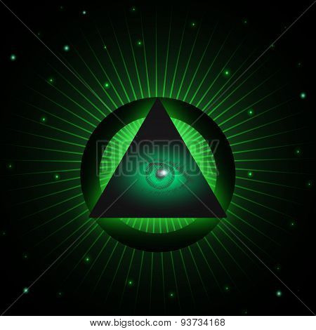 Masonic eye background