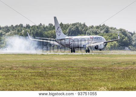 Poznan, Poland - June 14: Air Explore Plane During Aerofestival 2015 Event On June 14, 2015 In Pozna