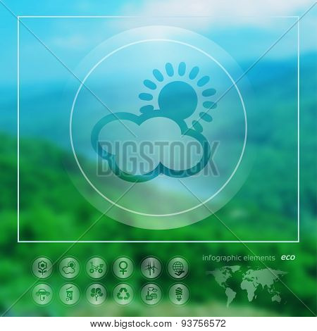 Ecology Icon On The Blurred Background