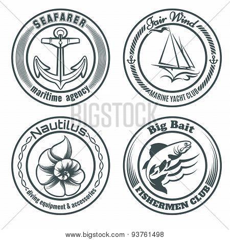 Nautical Stamps Set