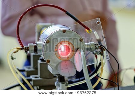Red Laser In Laboratory