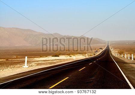 Long dirty road in Peru