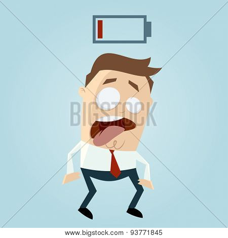 low battery businessman
