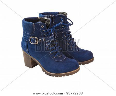 Blue Female Shammy Boot