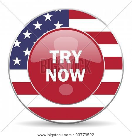 try now american icon original modern design for web and mobile app on white background