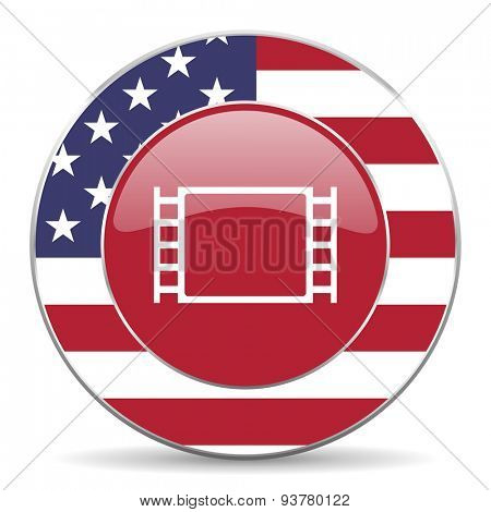 movie american icon original modern design for web and mobile app on white background