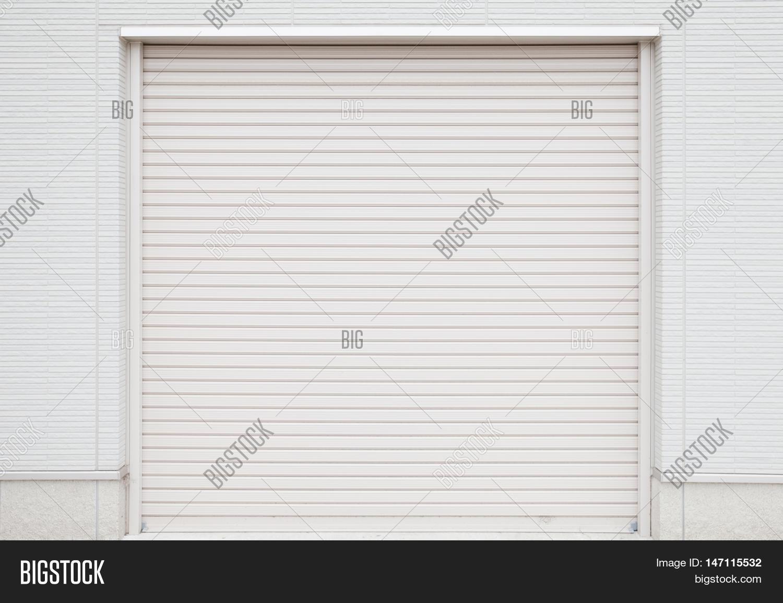 white garage door texture. White Metal Roller Door Shutter Background And Texture Garage