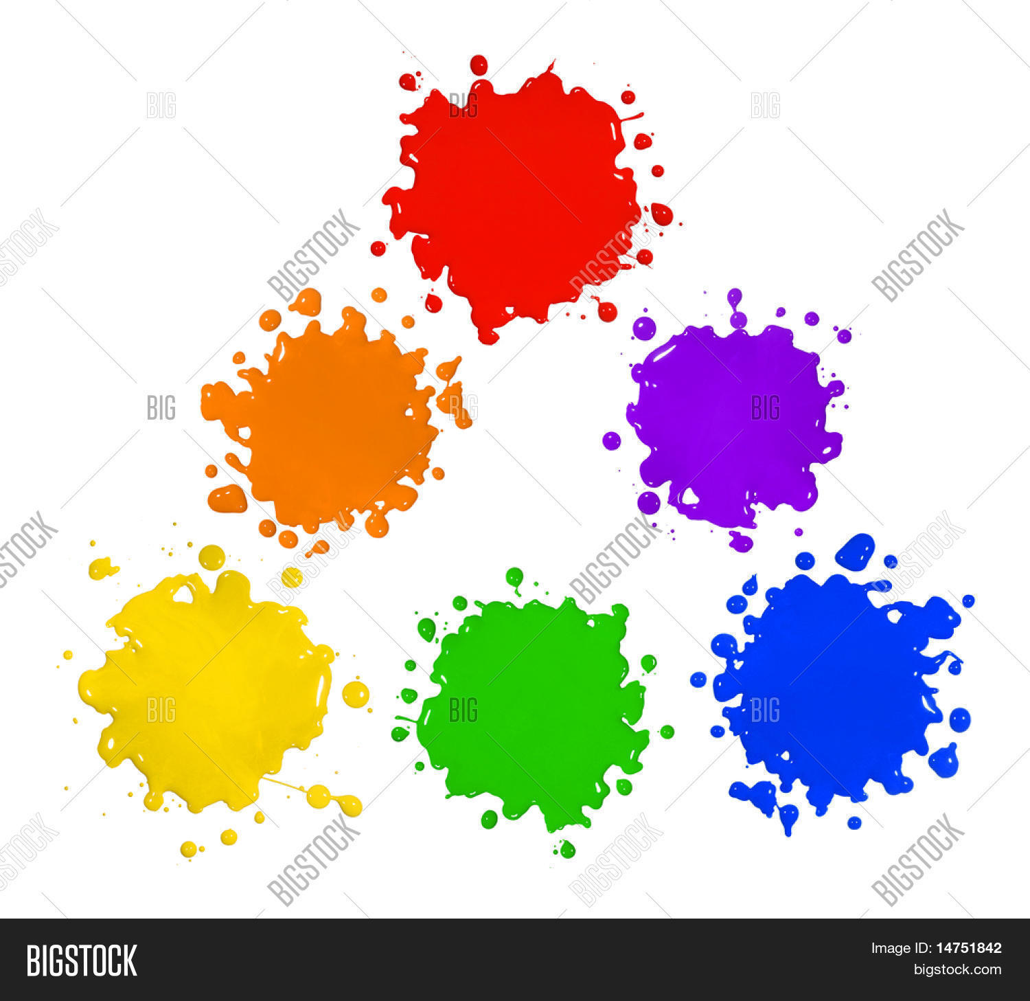 Primary Secondary Colors Paint Image Photo