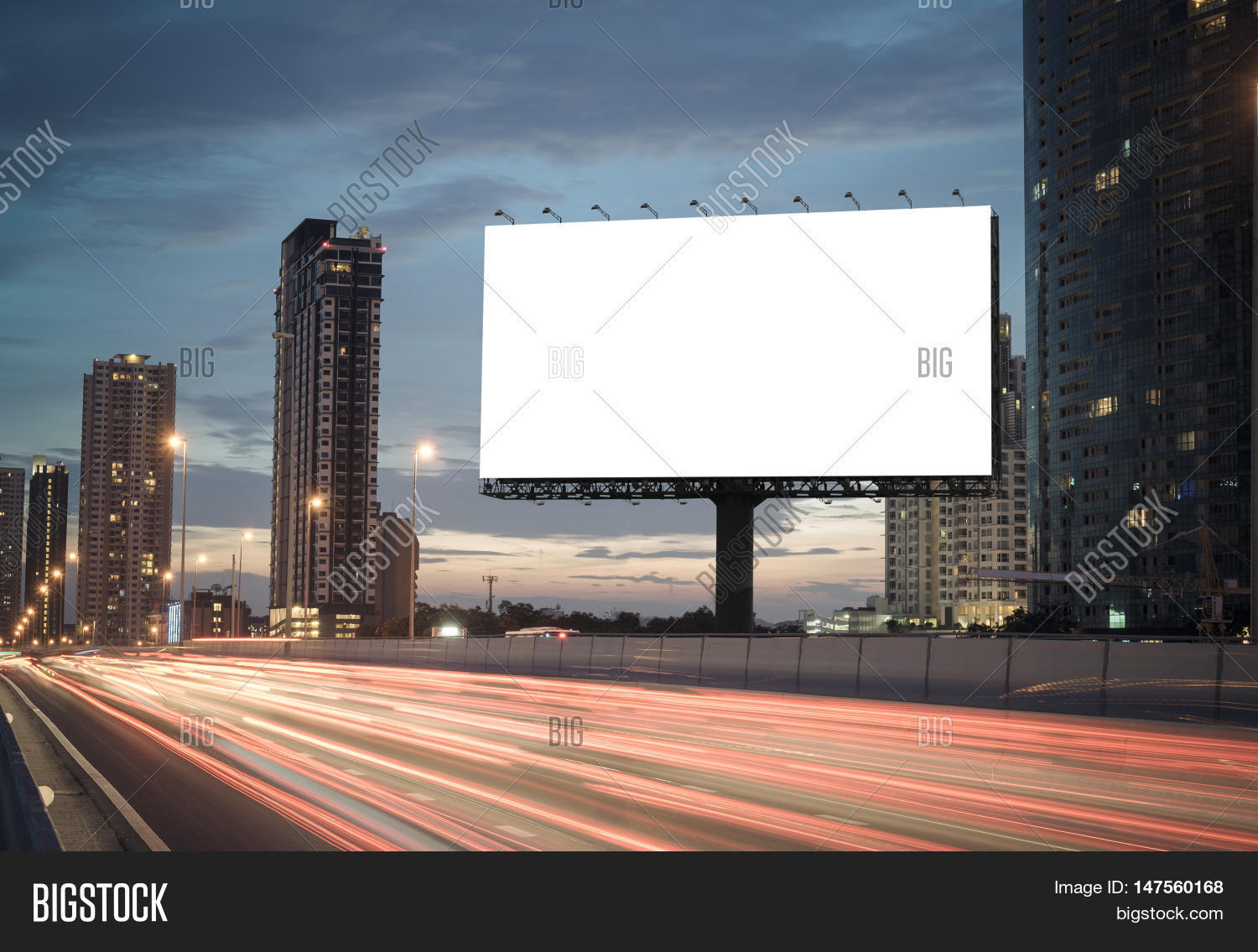 Blank Billboard Blank Billboard On Hig...