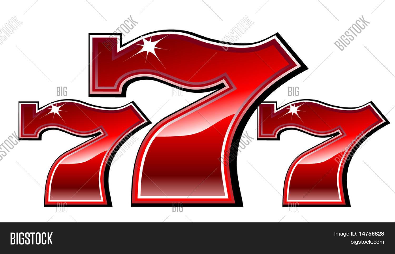 lucky seven slot vector photo free trial bigstock