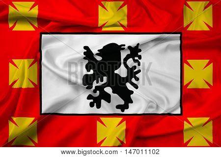 Waving Flag Of Sao Vicente, Sao Paulo, Brazil