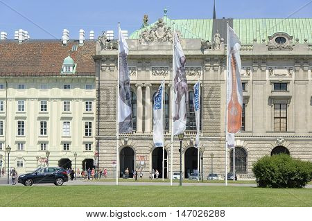 Vienna Austria - 04 July 2015 : Permanent Council of Organization for Security and Co-Operation in Europe - largest security-oriented intergovermental organisation which is located in Hofburg