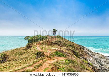 Phromthep Cape Beautiful Andaman sea view in Phuket island Thailand.