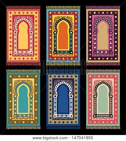 Islamic Rugs Prayer Mats Arabic Carpets Set