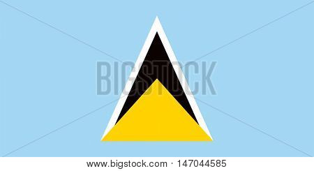 Vector Saint Lucia flag