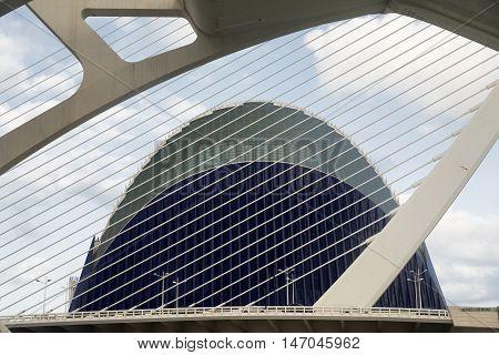 VALENCIA, SPAIN - JULY 14, 2016: Valencia (Spain) the City of Arts and Sciences projected by Santiago Calatrava and Felix Candela