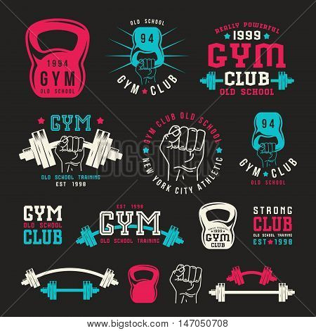 Stock Vector Illustration Of Gym Club Emblem
